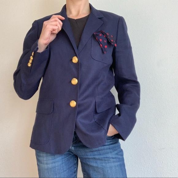 Ralph Lauren Jackets & Blazers - Lauren Ralph Lauren navy linen blazer